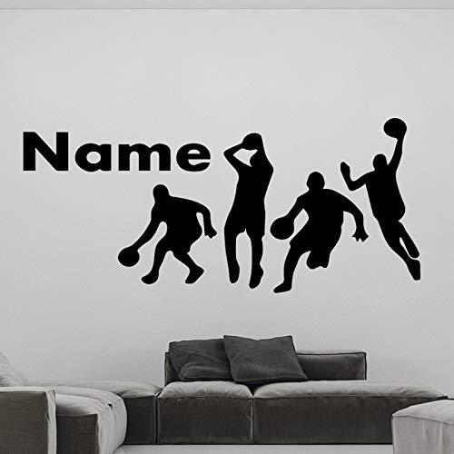 zxddzl Gioca a Basket Sport Wall Sticker per Young Boys Soggiorno Camera da Letto Decorazione della casa Accessori Vinile Decalcomanie murali Removibili 43x99cm