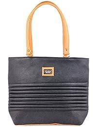 Techno Wear Premium PU Leather And Casual Shoulder Bag Women & Girl's Handbag Colour Orange & Black