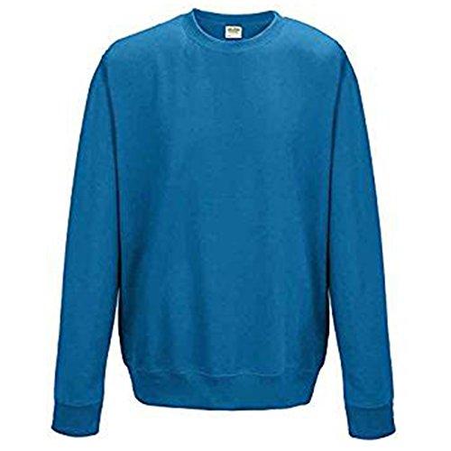 AWDis Herren Modern Sweatshirt Gr. L, saphirblau (Wool Brown Crewneck Pullover)