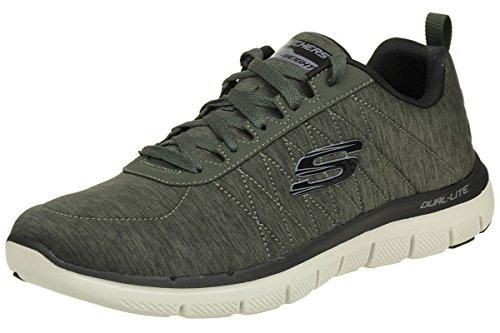 Skechers Flex Advantage 2.0 CHILLSTON Sneaker in Übergrößen Grün 52186 OLV große Herrenschuhe, Größe:46