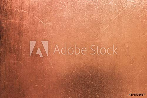 druck-shop24 Wunschmotiv: Vintage Bronze or Copper Plate, Non-Ferrous Metal Sheet as Background #207516687 - Bild auf Forex-Platte - 3:2-60 x 40 cm / 40 x 60 cm - Copper Sheet Stock