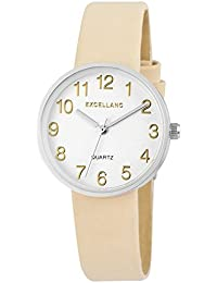 Excellanc Damen-Armbanduhr XS Analog Quarz verschiedene Materialien 195027500175