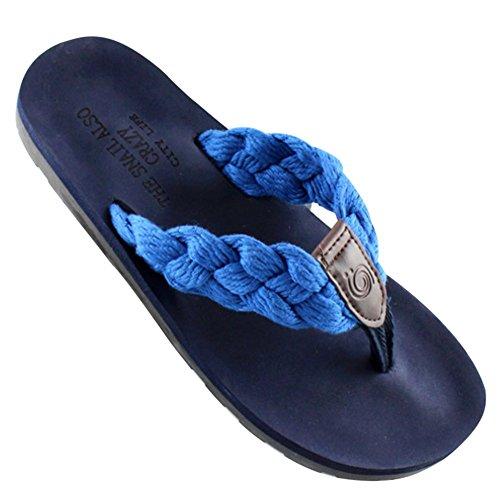 KISS GOLD (TM) Unisex Zehentrenner Beach Slippers mit Gewerbe Blau 7cK9W