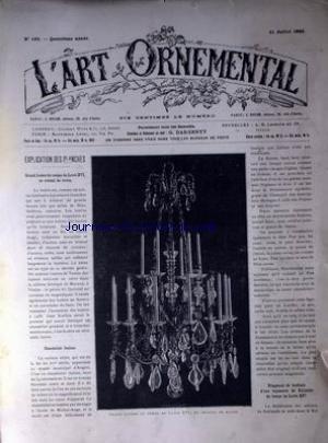 ART ORNEMENTAL (L') [No 183] du 31/07/1886 - G...