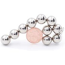 Brudazon - 10 Mini Kugel-Magnete 10mm | Neodym-Magnete ultrastark - N38 | Power-Magnet für Modellbau, Whiteboard, Pinnwand, Kühlschrank, Basteln | klein, rund & extra stark