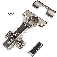 10er Set SO-TECH® T52 Topfband Clip 110° Eckanschlag Automatikscharnier mit Schließautomatik und Dämpfer inkl. Montageplatten
