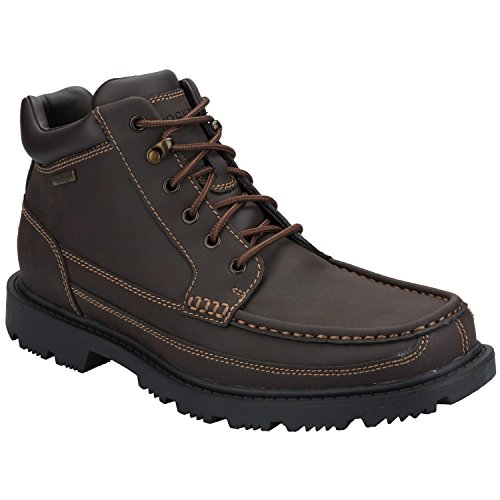 Mens Rockport Redemption Road Moc Toe Boots In Dark Brown, Dark Brown,...