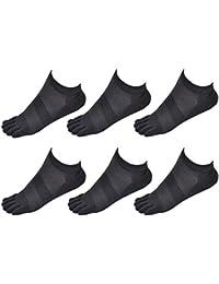 Aieoe Pack de Calcetines de Dedos Separados Finos Transpirable para Hombres de Algodón Calcetines Cortos Tobilleras - Dedos de Pies…