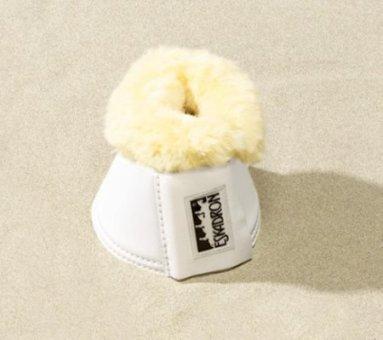 ESKADRON Kunstleder Sprungglocke mit Lammfell, weiß, XL