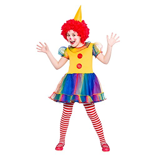 Girls Little Clown Fancy Dress Up Party Costume Halloween Child