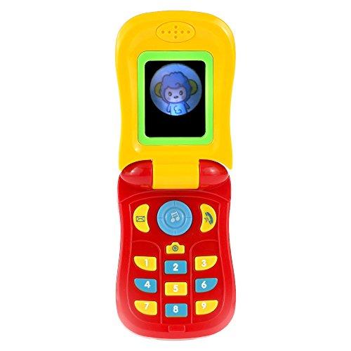 Goolsky Coolplay bambino colorato musica telefono cellulare giocattolo Flip diario Custodia Cover musicali cellulare cellulare (Cellulare Confezione Telefono)