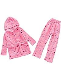 2 juegos de pijamas de moda para niñas otoño cálido y pijamas de invierno