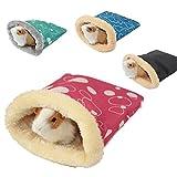 ParZ Small Animal Hamster Sacco a Pelo Inverno Pet Soft Warming Bed House Gabbia Nest Regalo di Natale (Colore Casuale)