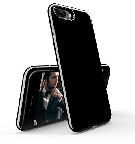 Coque iPhone 7 Plus, [Ultra Slim ] [Noir de jais] Ultra-Thin Scratch Resistant Cover Skin Case pour iPhone 7 Plus 5.5 pouces, Jet Balck Jet Balck