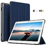 ELTD Hülle für Huawei MediaPad M3 Lite 10 - Ultra Schlank Smart Cover Tasche Schutzhülle Case für Huawei MediaPad M3 Lite 10 mit Standfunktion, Blau