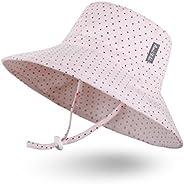 Sombrero de Sol para Bebé Niña Niño Infantil Niños Pequeños Unisexo Ajustable Sombrero Bob Protección Solar UP