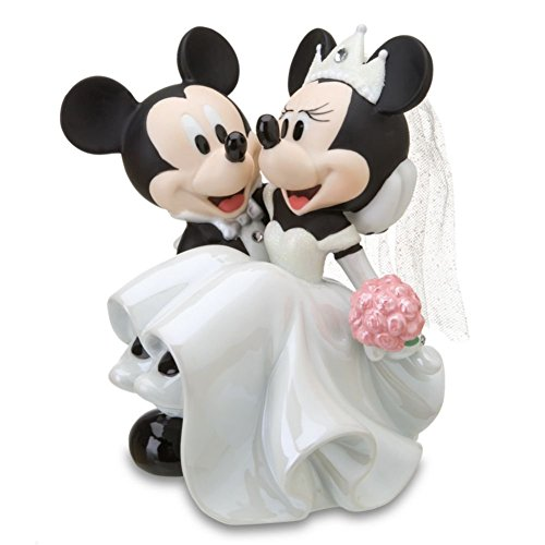 Mickey Mouse Bride Groom Porecelin Wedding Figurine Cake Topper by Disney (Disney Cake Topper)