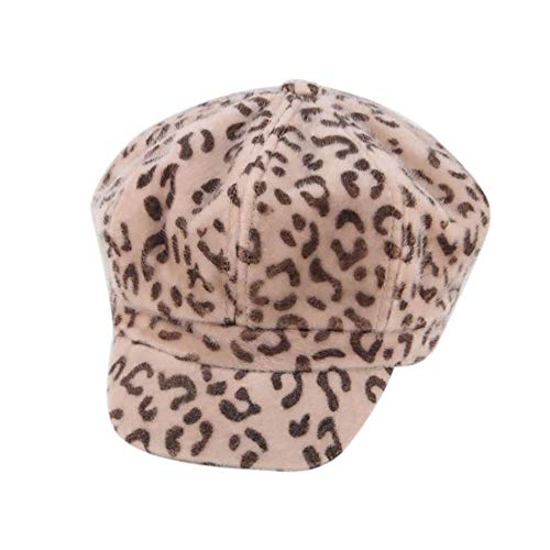 Likecrazy Damen WinterLeopard Drucken Kappe Damen Mütze Beret Warm Fashion Hat Street mode Frauen Beanie Mütze Erwachsene wärmen Winterkappe (Mehrfarbig2,one size)
