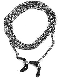 Decorativo Metal gafas de soporte para gafas, diseño de cadena soporte cuello cable