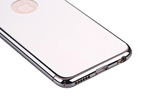Custodia Cover per iPhone 6 iPhone 6S 4.7 Case ,Ukayfe 2 in 1 Ultra Slim Casa per iPhone 6 iPhone 6S 4.7,Protettiva Custodia stampato Design PC+ Silicone ibrido impatto grande Difensore custodia Combo Argento-specchio