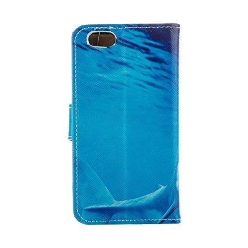 """MOONCASE Étui pour iPhone 6 / 6S (4.7"""") Cuir Coque en Portefeuille Protection Housse de Étui à rabat Case RX04 RX01 #0308"""