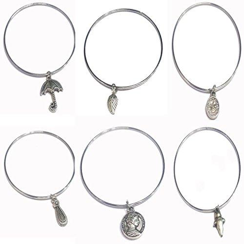 Charm Bracelets (6 PIS Set Bangles)