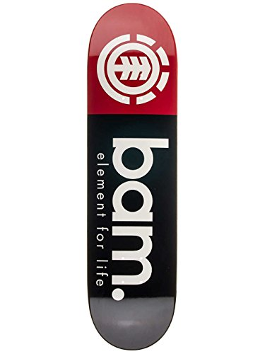 Element Skateboard Deck X Bam Margera Black Red 8.25