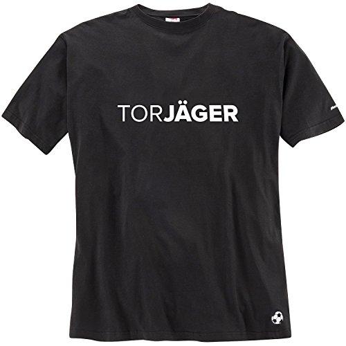 Pfundskerl Fußball Spruch-Shirt Torjäger schwarz_15 3XL