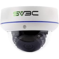 SV3C Full HD 1080P POE Dome IP Security Camera Indoor/Outdoor- 1920X1080 Resolution, Vandal-Proof, IP66 Weatherproof, Support Remote Viewed by Iphone,Andriod Phone,Pad and Windows PC
