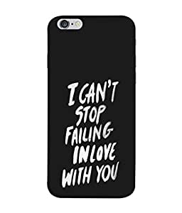 FUSON Designer Back Case Cover for Apple iPhone 6 (Best Quotes Love Words Always Happy Together)