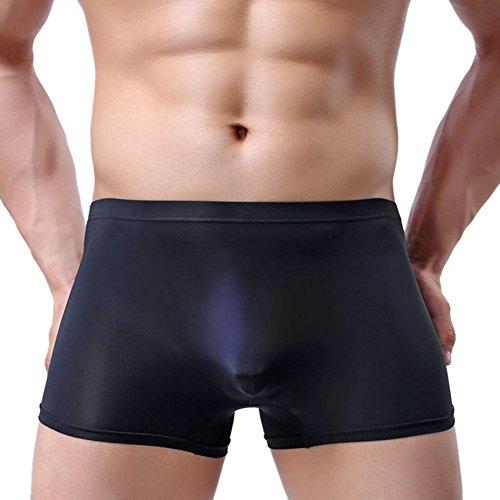 Herren-polyester-boxer-shorts ([2017 neueste Modell] Freebily Herren Shorts Boxer Boxershorts Briefs Ultrabequem Retroshorts Unterwäsche Unterhose Underwear farbig und langlebig Schwarz XL)