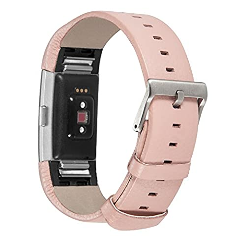 For Fitbit Charge 2, DigiHero Leather Replacement Band for Fitbit Charge 2 Band / Charge 2 / Fitbit 2 / Charge 2 Fitbit / Fitbit Charge 2 Bands,Dark Brown (No Tracker)