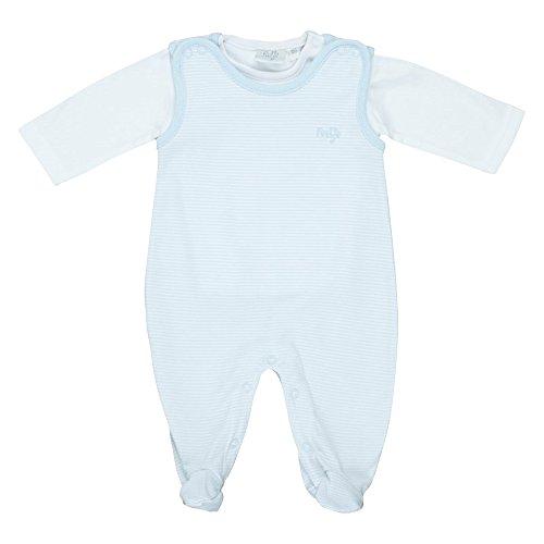 FEETJE Strampler mit langarm Shirt Baby Baby-Set, Größe 44, hellblau