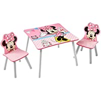 Preisvergleich für Minnie Mouse - Set aus Tisch und 2 Stühlen für Kinder