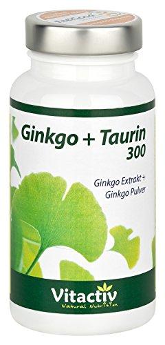 Ginkgo Biloba + Taurin - Das Ginkgo Präparat der nächsten Generation (60 Ginkgo Biloba + Taurin Kapseln) (Ginkgo Biloba-60 Kapseln)