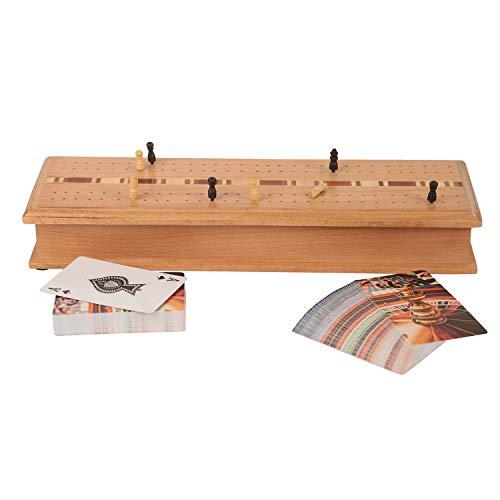 indiaethnicity Cyber Monday Geschenke Holz Cribbage Game Set mit 2 Packungen Spielkarten - Perfektes Weihnachts- & Geburtstagsgeschenk