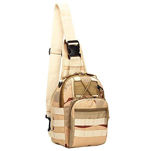 BULAGE Paket M-Paket Brusttasche Tasche Leinwand Reiten Tarnung Feld Bewegung Schulter Diagonal Im Freien Tasche B