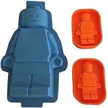 XCSSKG Molde de Silicona para Tartas de ladrillo para Amantes de Lego, Diseño de Vela