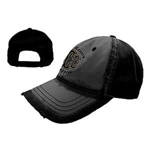 Black Adj Cap W/ Black Logo Fr