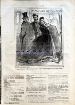 CHARIVARI (LE) du 19/12/1864 - J.B. BOREDON - LA SEMAINE DE LA BOURSE