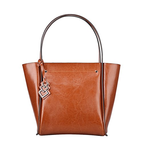 Damen Satchel Taschen Leder Q0828 Braun Handtaschen Schultertaschen Dissa Tote IqP45wnY
