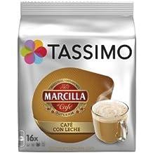 Cápsulas Tassimo Marcilla Café con Leche 80 bebidas PACK DE 5 PAQUETES CON 16 CAPSULAS.