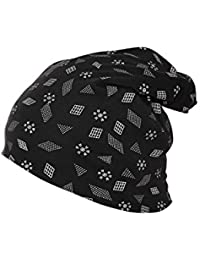 VIMAL JONNEY Women's Cotton Printed Beanie Cap (Black)