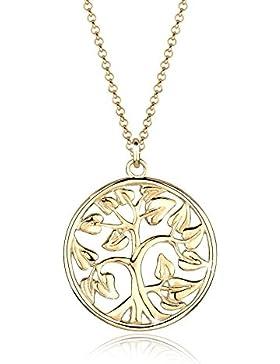 Goldhimmel Halskette Münze Tree of Life Symbol Lebensbaum 925 Sterling Silber 70cm
