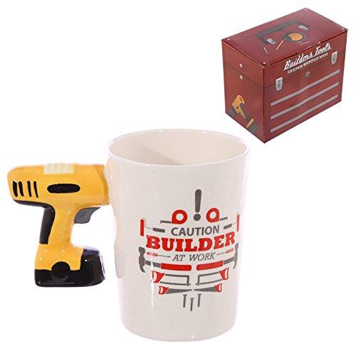 Lustig geformter Griff Keramik Werkzeug Tasse - Elektrische Bohrmaschine