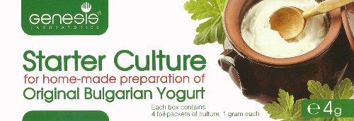 Ferments yaourt - Pack de 4 Sachets de Culture lyophilisée pour le Yaourt Bulgare Authentique