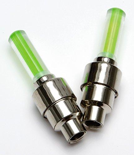 2-LED-Ventilkappen-fr-Felge-Speichenlichter-leuchtend-grn