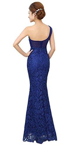 Drasawee - Robe - Taille empire - Femme Bleu - Blau - Königsblau