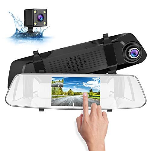 SUAOKI 1080p Full-HD Cámara de Coche, con cámara trasera HD para est