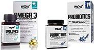 WOW Omega-3 Fish Oil Triple Strength 1000mg (550mg EPA, 350mg DHA, 100mg Other Omega 3 Fatty Acids) - 60 Capsu